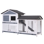 [US Warehouse] WF037782DAA Wood Pet Rabbit Hutch Chicken Coop Small Animal Cage, Size: 122×63.5x92cm