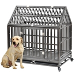 [US Warehouse] W20620131 Heavy Duty Pet Dog Crate Cage with Roof , Size: 110x117x74.6cm