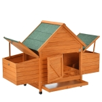 [US Warehouse] SH000120AAA Wood Chicken Coop Small Animal Cage Bunny Hutch with Tray & Ramp, Size: 153x66x107cm