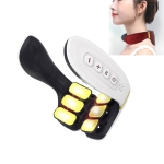 6-head Cervical Spine Shoulder Massager Electric Pulse Home Intelligent Neck Protector, Ordinary Style (White)