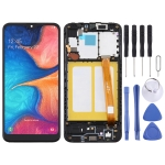 TFT Material LCD Screen and Digitizer Full Assembly With Frame for Samsung Galaxy A20e (Black)