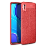 For Xiaomi Redmi 9A Litchi Texture TPU Shockproof Case(Red)