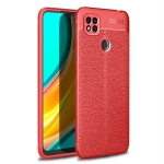 For Xiaomi Redmi 9C Litchi Texture TPU Shockproof Case(Red)