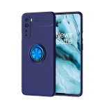 For OnePlus Nord Metal Ring Holder 360 Degree Rotating TPU Case(Blue+Blue)