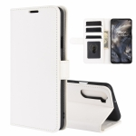 For OnePlus Nord R64 Texture Single Horizontal Flip Protective Case with Holder & Card Slots & Wallet& Photo Frame(White)
