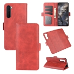 For OnePlus Nord  Dual-side Magnetic Buckle Horizontal Flip Leather Case with Holder & Card Slots & Wallet(Red)