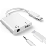 2 in 1 USB-C Adapter with 3.5mm Headphone Jack, Compatible for iPad Pro and Type-C Jack Phone