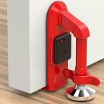 Locks Self-Defense Door Stop Travel Accommodation Door Stopper Door Lock Security Device, Style:Alarm Door Stop