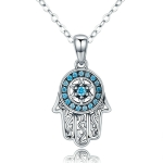 Fatima Guardian S925 Sterling Silver Necklace Female Zircon Necklace