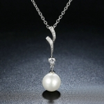 S925 Sterling Silver Pearl Pendant Necklace
