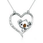 Cute Koala S925 Sterling Silver Lady Necklace