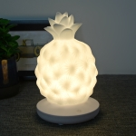 Creative Children Bedside Lamp USB Charging LED Cute Silicone Pineapple Night Light(White)