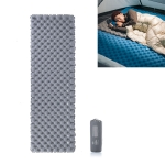 Naturehike NH19QD009 Outdoor Double Airbag Inflatable Mattress Moisture-proof Mat Camping Tent Sleeping Mat, Style:With Inflatable Bag(Titanium Gray)
