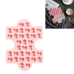 4 PCS Creative Jigsaw Puzzle Shape Ice Tray Mold Microwave Oven Candy Chocolate Cake Mold(Pink)