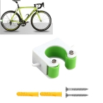 2 PCS Bicycle Parking Buckle Children Road Bike Mountain Bike Simple Wall Mount, Style:Road Bike(Green)