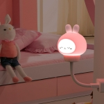USB Night light LED Cute Bedroom Sleep Eye Protection Bedside Lamp, Style:Regular Version(Rabbit )