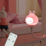 USB Night light LED Cute Bedroom Sleep Eye Protection Bedside Lamp, Style:Remote Control Version(Rabbit )