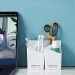 5 PCS Pen Holder Office Student Desktop Stationery Cosmetic Storage Box Random Colour