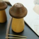 Mushroom Solid Wood Toothpick Holder Walnut Toothpick Storage Box