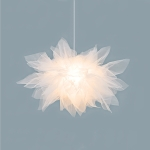 Creative Net Yarn Flower-shaped Chandelier Children Room Lamp Personalized Study Room Lamp, Size:45cm Diameter(Warm Light)