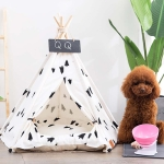 Foldable Pet Tent Breathable Pine Pet Nest Pet Mat, Style:With Cushion, Size:Small 40×40×50cm