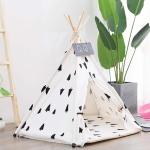Foldable Pet Tent Breathable Pine Pet Nest Pet Mat, Style:Without Cushion, Size:Medium 50×50×60cm