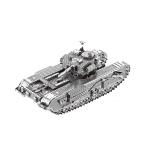 2 PCS 3D Metal Assembled Tank Model DIY Puzzle, Style: Churchill Tank