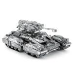 2 PCS 3D Metal Assembled Tank Model DIY Puzzle, Style: Scorpio Tank