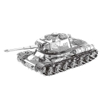 2 PCS 3D Metal Assembled Tank Model DIY Puzzle, Style: JS-2 Tank