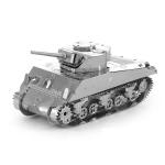 2 PCS 3D Metal Assembled Tank Model DIY Puzzle, Style: Sherman Tank