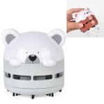 Cartoon Mini Night Light Desktop Vacuum Cleaner Student Office Car Handheld Dust Cleaner(Gray)