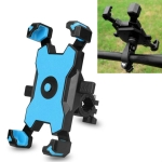 Electric Bicycle Mobile Phone Holder Can Be Rotated 360-degree Mobile Phone Holder Four-way Adjustment Bracket for Motorcycle, Style:Handlebars(Blue)