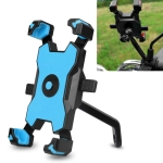 Electric Bicycle Mobile Phone Holder Can Be Rotated 360-degree Mobile Phone Holder Four-way Adjustment Bracket for Motorcycle, Style:Rearview Mirrors(Blue)