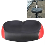 Bicycle Seat Mountain Bike Seat Cushion Shock Absorption no Nose Saddle Riding Equipment(Red)