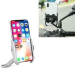 Bicycle Mobile Phone Holder Motorcycle Electric Car Navigation Mobile Phone Holder, Style:Rearview Mirrors(Silver)