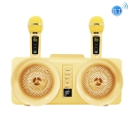 SDRD SD-307 2 in 1 Family KTV Portable Wireless Live Dual Microphone + Bluetooth Speaker(Gold)