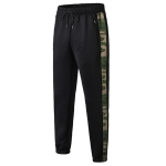 Loose Sports Camouflage Stretch Quick Drying Casual Leggings (Color:Black Size:S)