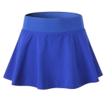 Tennis Dance Yoga Quick Drying Anti Light Lining Skirt Pants (Color:Blue Size:S)