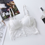 Lace Bra Wrapped Chest Tube Sling Underwear for Ladies, with Chest Pad (Color:White Size:Free Size)