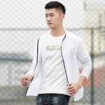 Lovers Hooded Outdoor Windproof And UV Proof Sun Proof Clothes (Color:White Size:S)