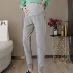 Fashion Trendy Mother Spring And Autumn Leggings Autumn And Winter Sports Pants Casual Work Autumn (Color:Light Grey Size:XXL)