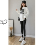 Autumn Leggings For Pregnant Women (Color:Black Size:M)
