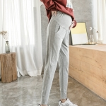 Fashion Stomach Lift Pants Fall Outside Wear Loose Sports Pants Casual Trousers Autumn Clothes (Color:Light Grey Size:L)