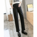 Fashion Outer Wear Straight Loose Casual Pants Trousers Pregnant Women Pants Autumn Tide Mother Autumn And Winter Clothes (Color:Black Size:M)