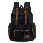 AUGUR 1039 Men Retro Canvas Backpack Shoulders Laptop Bag(Black)