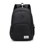 AUGUR Retro Casual Oxford Cloth Backpack Shoulders Laptop Bag(Black)
