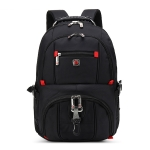 AUGUR 909 Casual Oxford Cloth Backpack Shoulders Laptop Bag(Black)