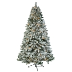 [US Warehouse] 7.5FT Indoor Outdoor Christmas Holiday Decoration PVC Flocking Tied Light Christmas Tree