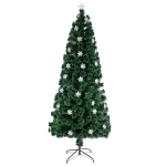 [US Warehouse] 6FT Indoor Outdoor Christmas Holiday Decoration Small Light Fiber Optic Christmas Tree with 230 Branches