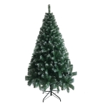 [US Warehouse] 6FT Indoor Outdoor Christmas Holiday Decoration Iron Leg White PVC Christmas Tree with 650 Branches